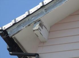 外壁破風板木部 板金張り施工 西尾市