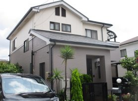 【岡崎市M様邸】ラジカル制御型塗料パーフェクトトップで外壁塗装、パーフェクトベストで屋根塗装!