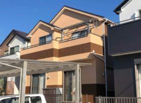 【岡崎市Y様邸】ラジカル制御型塗料パーフェクトトップで外壁塗装、フッ素塗料サーモアイ4Fで屋根塗装!